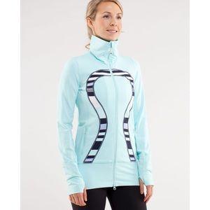 lululemon in stride hoodie in heathered aquamarine